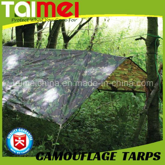80GSM-200GSM Camo Tarps China Manufactured Waterproof PE Tent Fabric