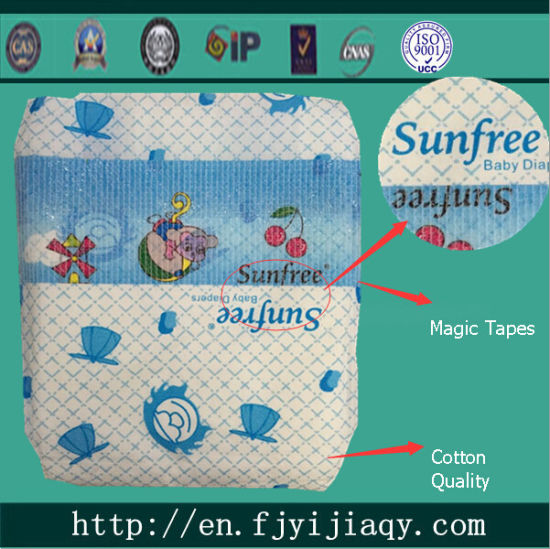Good Quality Cotton Disposable Baby Diaper pictures & photos