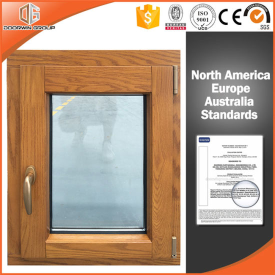 Solid Oak Wood Aluminum Cat Window With Security And Sizes Customized Pictures Photos