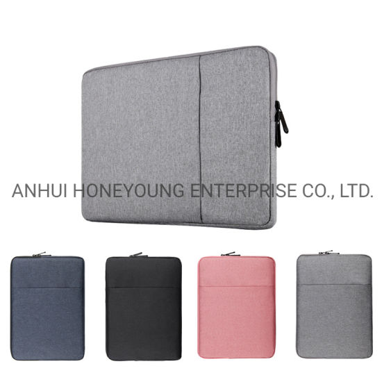 """2 Tone Fabric Soft Notebook Laptop Sleeve Case Pouch Bag 13"""" 14""""15"""""""