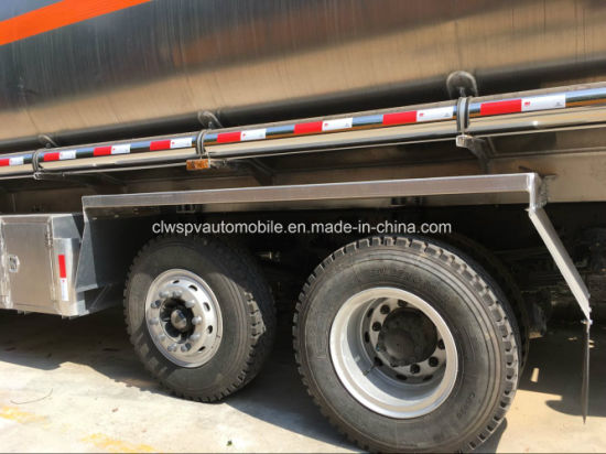 Heavy Duty 30 Tons Fuel Truck 4 Axles Aluminum Alloy Gasoline Tank Truck pictures & photos