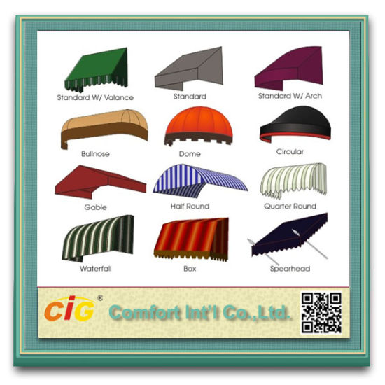 High Quality Waterproof Acrylic Awning Fabric pictures & photos