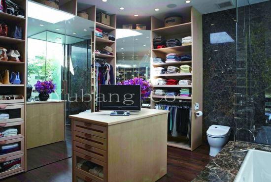 Natural Wood Veneer Closet Designs (BF33)