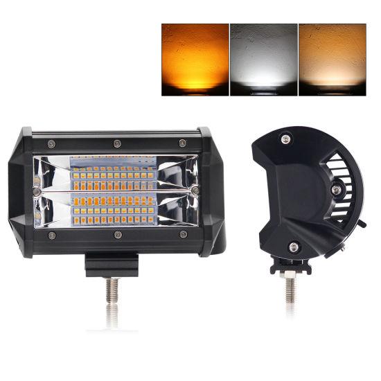 30000 Lumens Wholesale 72W 24volt Truck Dual Color Strobe Mini LED Light Bar
