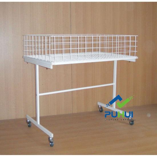 Universal Purpose Steel Tubular Frame Metal Promotion Table (PHY520)
