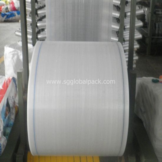 White PP Woven Tubular Fabric Cloth in Roll pictures & photos