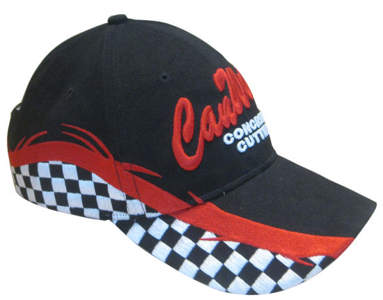 Racing Flag Embroidery Cap (Mic-002)