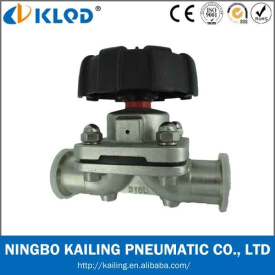 Sanitary Food Grade Pneumatic Stainless Steel Diaphragm Valves Klgmf-32m pictures & photos