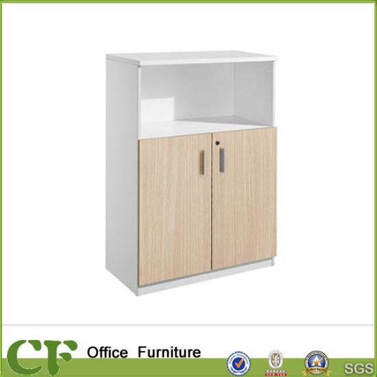 Customized White Beech Wood Office Low Display Cabinet