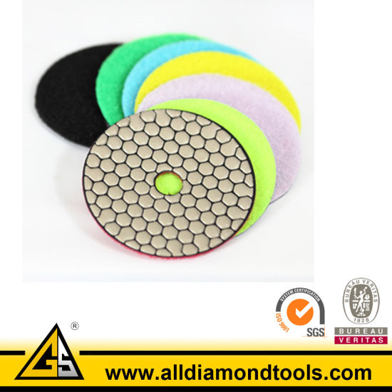 Hook & Loop Backing Diamond Polishing Pads for Marble and Grainte pictures & photos