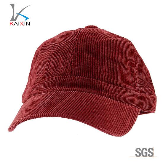 64cce95b4d5fc Hot Wholesale Custom Plain Blank or Embroidery Corduroy Baseball Caps