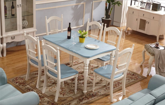 European Style Wooden Dining Set Made by Nice Color (M-X1099)