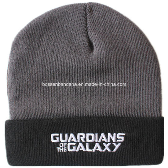 OEM Produce Customized Design Embroidered Ski Sports Hat Acrylic Knit Black Beanie Hat pictures & photos
