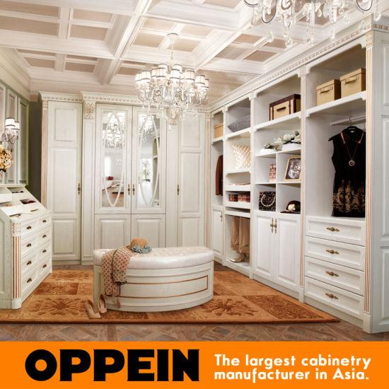 China Oppein 2015 British Style Light White Plywood Closet