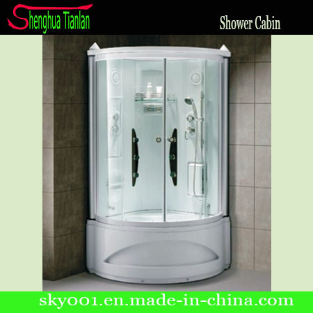 Prefabricated Corner Frosted Glass Steam Shower Bathroom (TL-8845)