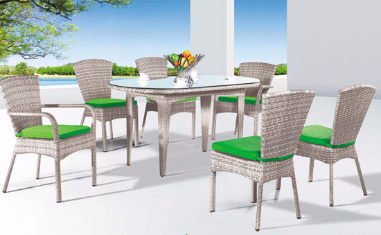 Hot Selling Manufacturer Wholesale Factory Price to Indoor Cane Table and Chairs Furniture for Swimming Pool Balcony Garden Courtyard