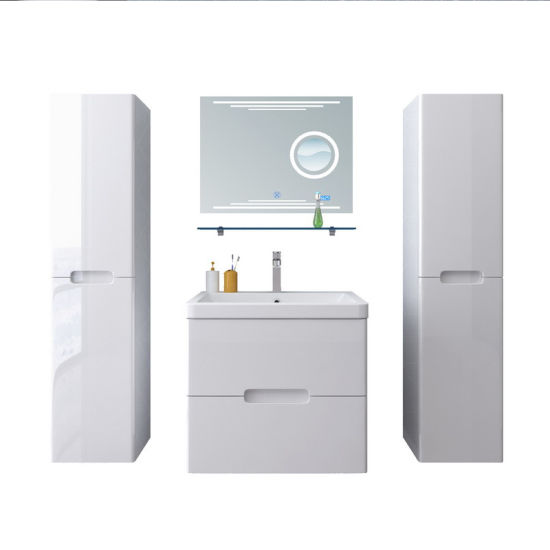 Deluxe Bathroom Cabinets with 2 Side Vanities and Magnifying Glass