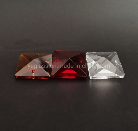 Crystal Glass Square Beads for Chandelier Lamp Accessories