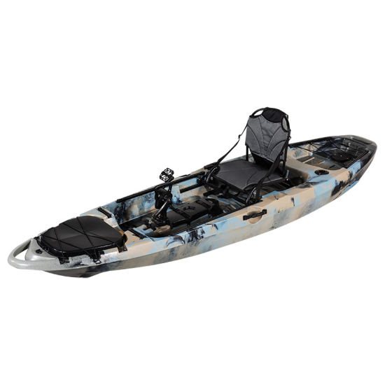 One Person Plastic Rowing Boat Fishing Kayak with Pedal OEM