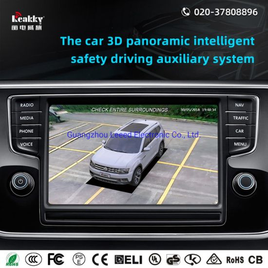 360 Degree Universal Night Vision Bird View Camera Safety Driving Assistant Auxiliary System with Car Camera and GPS Navigator