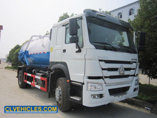 HOWO10cbm 6wheeler Medium Volume Custom-Made Vacuum Suction Truck