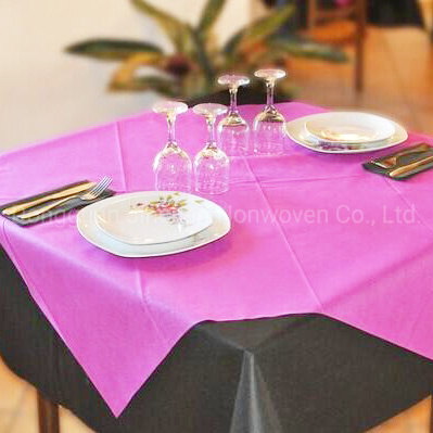 100% PP Spunbond Nonwoven Fabric for Disposable Tablecloth, Tablecloth pictures & photos