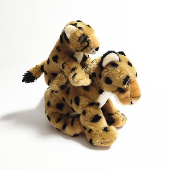 Leopard Realistic Stuffed Fluffy Soft Plush Export Ce Toy