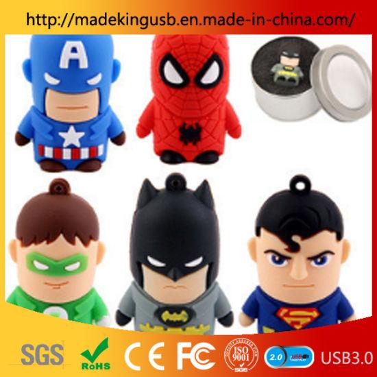 Hot Selling! PVC Marvel Hero Anime Doll USB Flash Drive