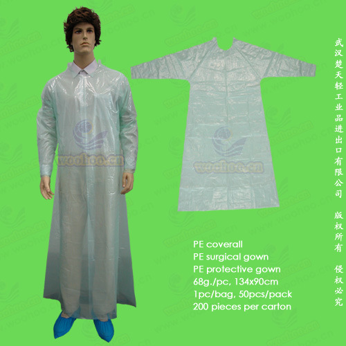Disposable Polyethylene/Poly/PE Protective Gown