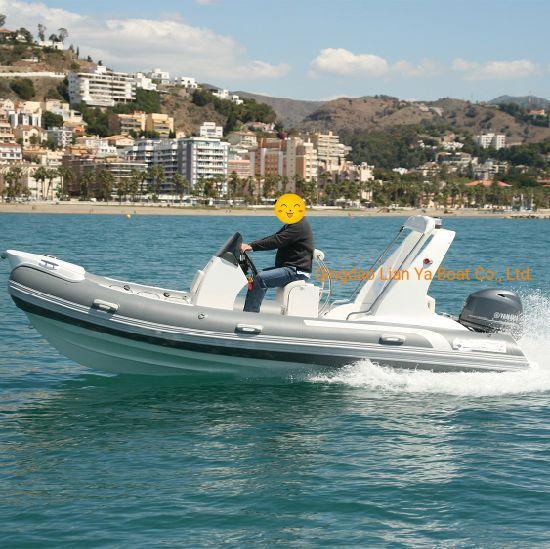 Liya 5.2m 70HP Water Motor Rescue Boat Fiberglass Inflatable Boat