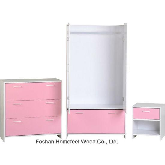 China Pink Kids Bedroom Furniture Set