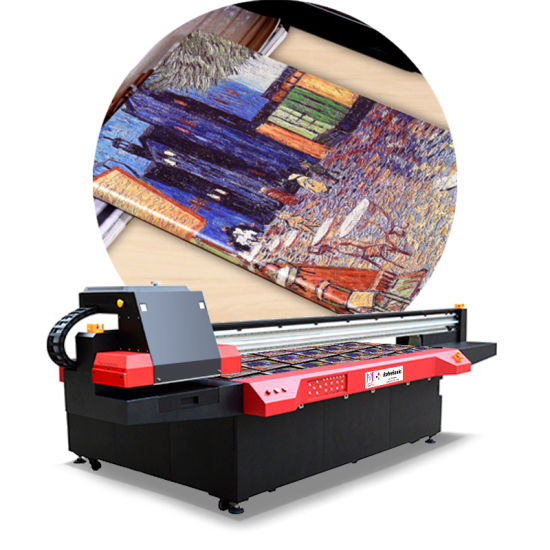 Multipurpose Large Format Digital Flatbed Inkjet UV Wood Ceramic Tile Printer