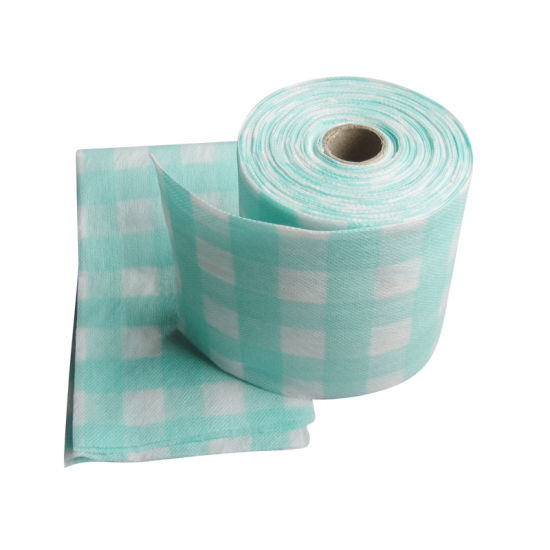 Kitchen Use Nonwoven Spunlace Perforated Wiping Roll pictures & photos