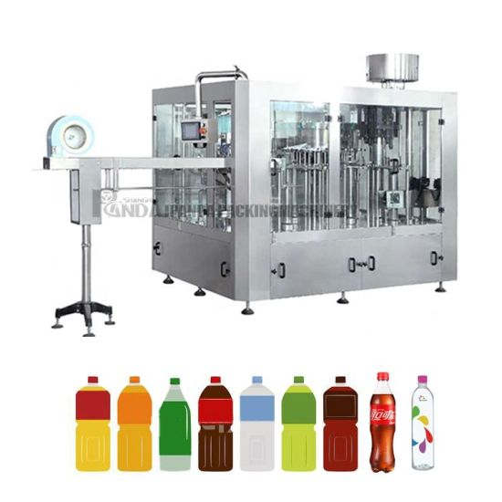 Automatic Pet Bottle Liquid Pure Drinking Mineral Water Bottling Machine / Carbonated Flavored Juice Drinks Filling Making Packing Plant