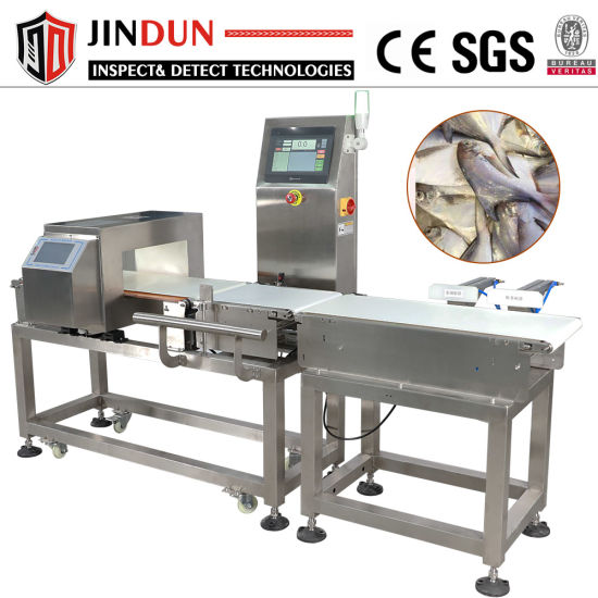 Touch Screen Conveyor Belt Metal Detector with Checkweigher
