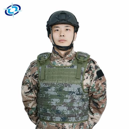 Military Primary Combat Ballistic Bulletproof Helmet with Rails and Velcro  Pad