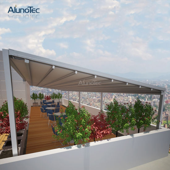 Waterproof Aluminum Roof System Retractable Pergola for Backyard