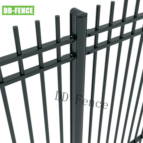 Powder Coated No Welding Wrought Iron Steel Tubular Garrison Security Fence for Garden Factory School Playground Boundary