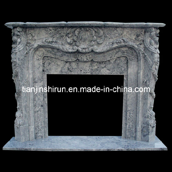Marble Carving Fire Surround, Fireplace, Mantel (XF401)