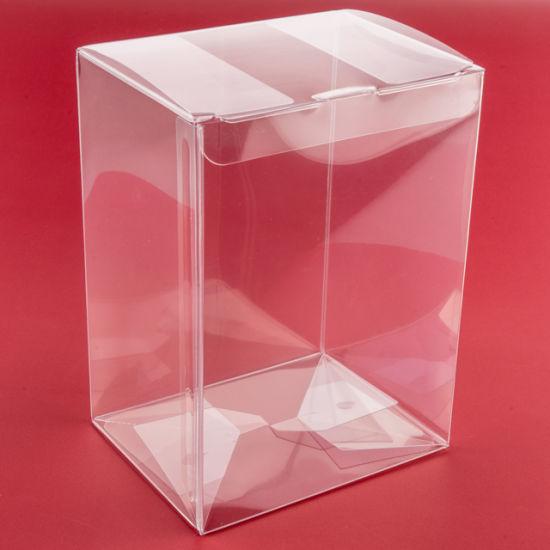 Guangzhou Manufacturer Custom Auto Bottom Soft Crease Pet Plastic Transparent Acetate Box