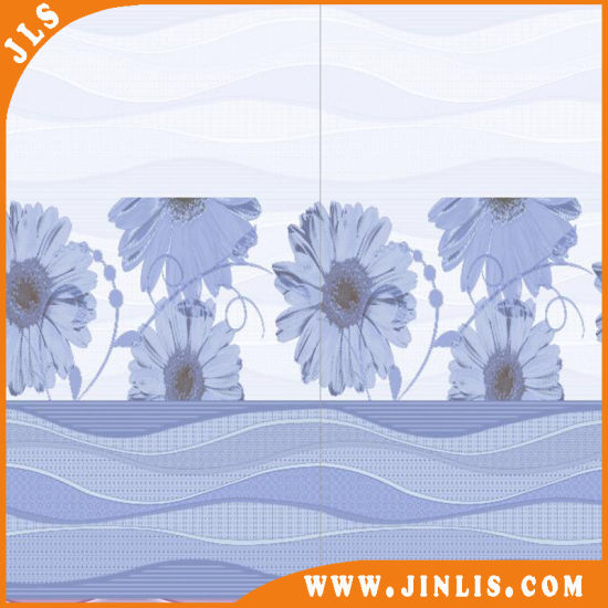 Building Material Popular Blue Flower Bathroom Rustic Ceramic Wall Tile pictures & photos