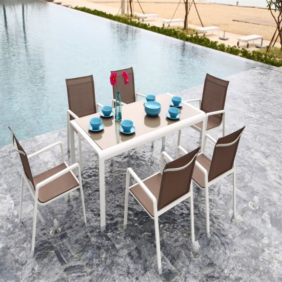 Outdoor Garden Sling Fabric Dining Set Furniture