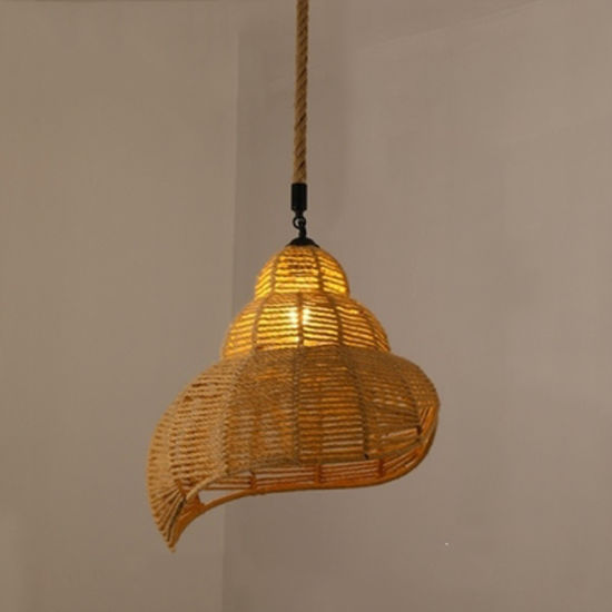 Home Lighting Pendant with Hemp Rope for Indoor Decoration