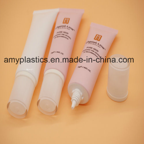 BV-Assessment Flat BPA Free Plastic Cosmetic Packaging Tube pictures & photos