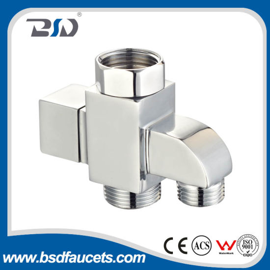 China Chrome Brass Shower Square Diverter for Shower Mixer Shower ...
