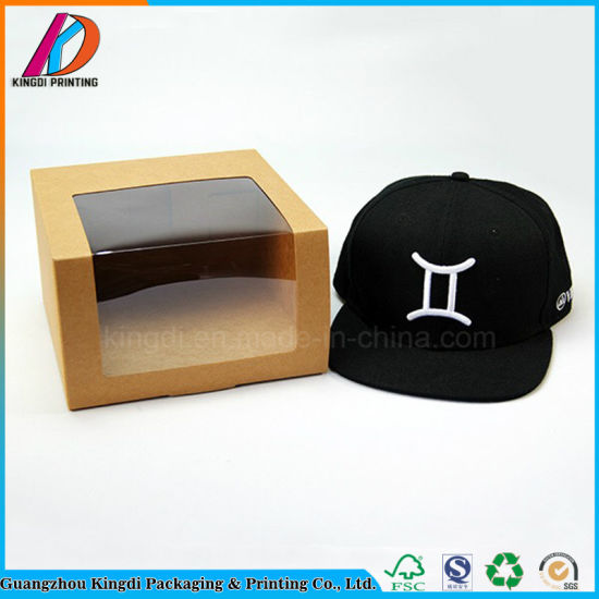 China Storage Kraft Paper Gift Mailing Display Baseball Cap Box With