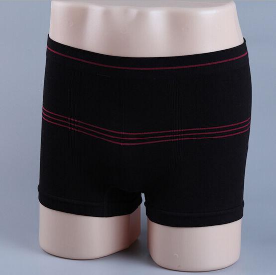 Cheap Customize Nylon/Spandex Sexy Men Seamless Boxers
