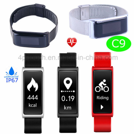 Sport Armband Smart Bracelet with Fitness Tracker and Waterproof C9 pictures & photos