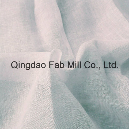 White Natural Linen Fabric (QF16-2535) pictures & photos