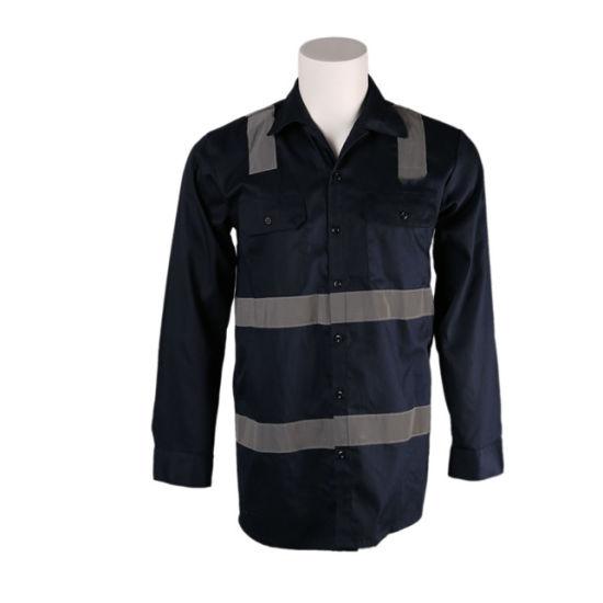 7oz Cotton Flame Retardant Long Sleeve Shirt with Reflective Tape